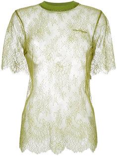 кружевная футболка  Off-White