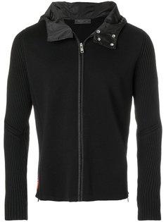 короткое пальто с капюшоном Prada