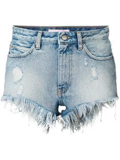 джинсовые шорты с необработанными краями Palm Angels