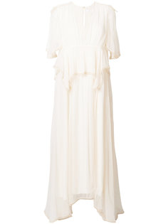 струящееся удлиненное платье с драпировками Chloé