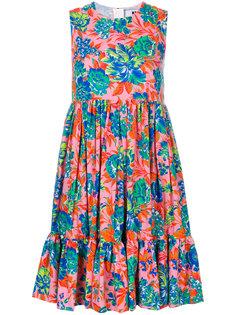 платье ампирного силуэта с цветочным узором MSGM