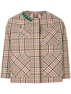 клетчатый декорированный пиджак Nº21