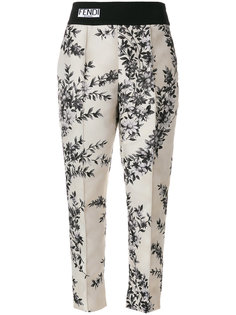 классические брюки с цветочным принтом Fendi