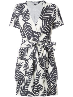 платье мини с запахом и пальмовым принтом  Patbo