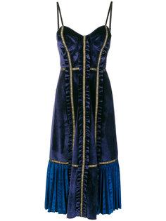 платье миди с панельным дизайном Self-Portrait