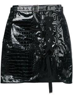 мини-юбка со шнуровкой спереди Self-Portrait