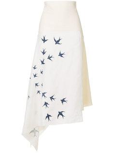 юбка с вышивкой  JW Anderson