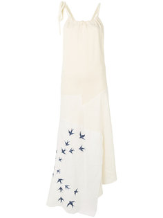 платье с вышивкой  JW Anderson