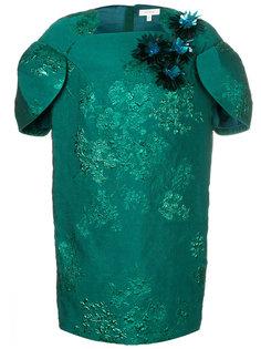 платье с жаккардовым узором и декором Delpozo