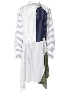 платье-рубашка в стилистике пэчворк JW Anderson