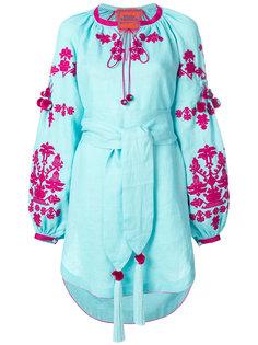 короткое платье с вышивкой Ponpon Yuliya Magdych