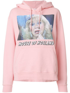 logo print hoodie House Of Holland