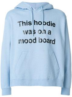 slogan print hoodie  House Of Holland