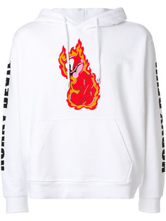 flame print hoodie  House Of Holland