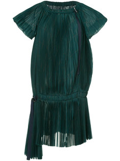 asymmetric pleated dress Sacai