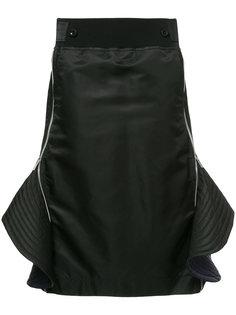 ruffled zip skirt Sacai