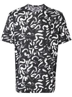 футболка с принтом мазков кисти Versace