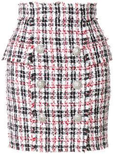 твидовая мини юбка Balmain