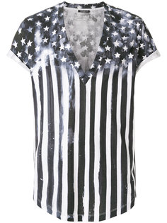 футболка с принтом звезд Balmain