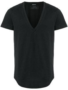 футболка с глубоким V-образным вырезом Balmain