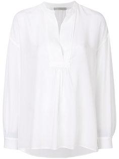 блузка с плиссированным нагрудником Vince