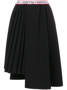 плиссированная юбка асимметричного кроя Vivetta