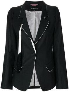 приталенный пиджак с кисточками Ann Demeulemeester