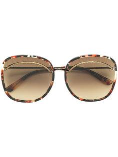 солнцезащитные очки Nero с эффектом черепашьего панциря Bottega Veneta