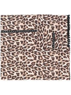 шарф с леопардовым принтом  Twin-Set