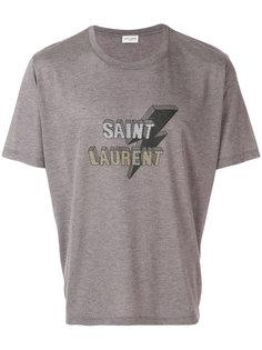 футболка с принтом-логотипом Saint Laurent