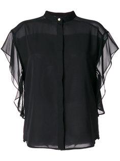рубашка с прозрачными рукавами DKNY