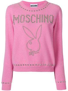 свитер с заклепками Playboy Moschino