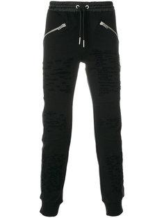 спортивные брюки с молниями Diesel
