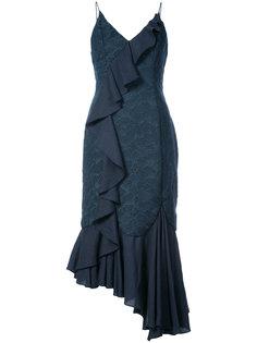 асимметричное платье миди с оборкой  C/Meo