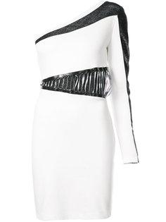 асимметричное платье дизайна колор-блок Just Cavalli