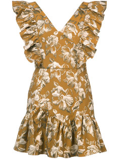 расклешенное платье с цветочным узором Love Shack Fancy