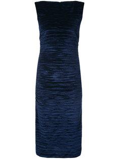 текстурированное платье миди Nicole Miller