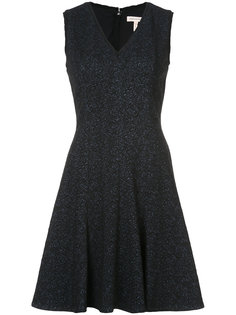 расклешенное платье с цветочной вышивкой Rebecca Taylor