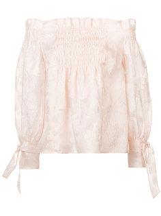 блузка с открытыми плечами Rebecca Taylor