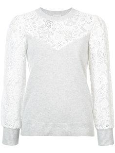 свитер с кружевом Rebecca Taylor