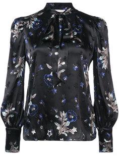 блузка с цветочной вышивкой Rebecca Taylor