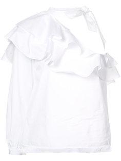 асимметричная блузка с оборками Veronica Beard