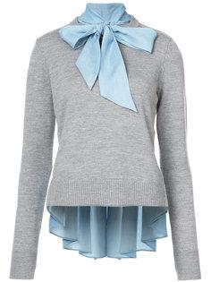 свитер с бантом Veronica Beard