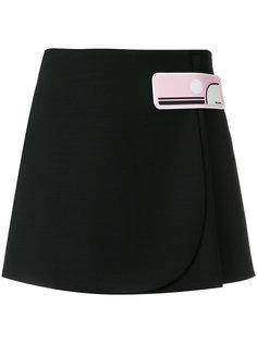 короткая юбка с аппликацией  Prada