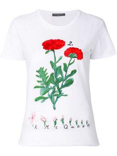 футболка с цветчонной вышивкой Alexander McQueen