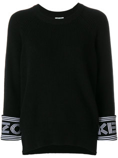 свитер с логотипом на манжетах Kenzo