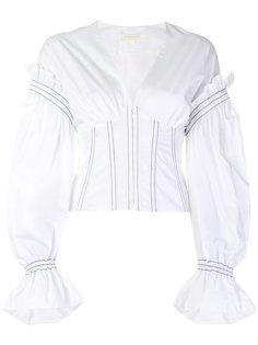рубашка с корсетом и пышными рукавами Jonathan Simkhai