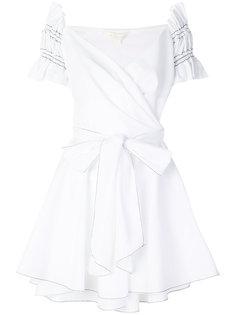 платье с открытыми плечами и поясом Jonathan Simkhai
