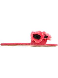 декориорванные сандалии Peony Miu Miu