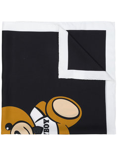 шарф с принтом медведя Moschino